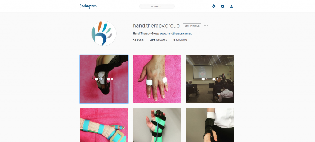 hand therapy group instagram